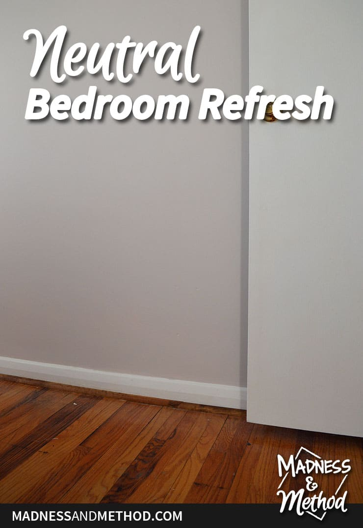 neutral bedroom refresh graphic