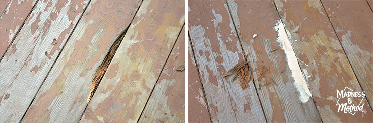 filling cracks in deck boards