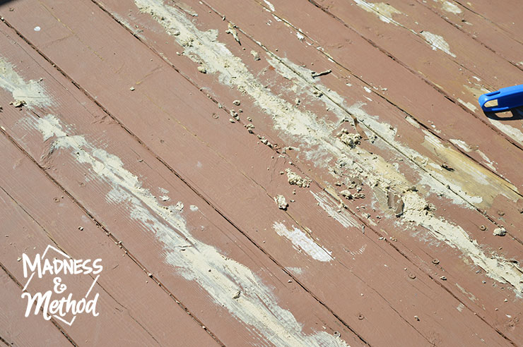 repairing damaged deck boards