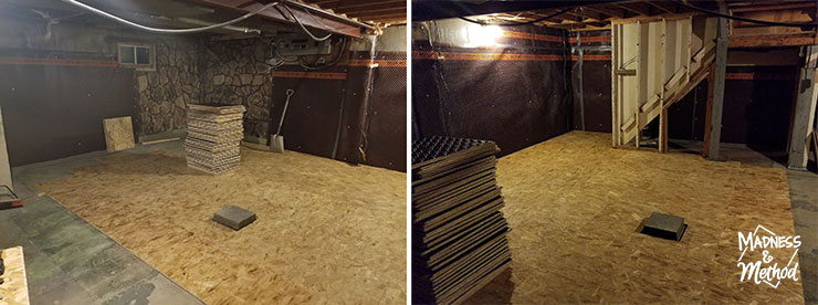 laying subfloor in basement apartment