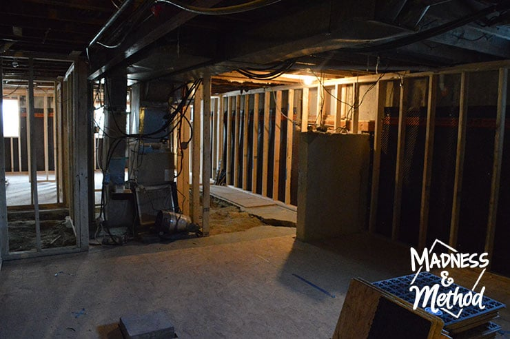basement apartment living and dining room
