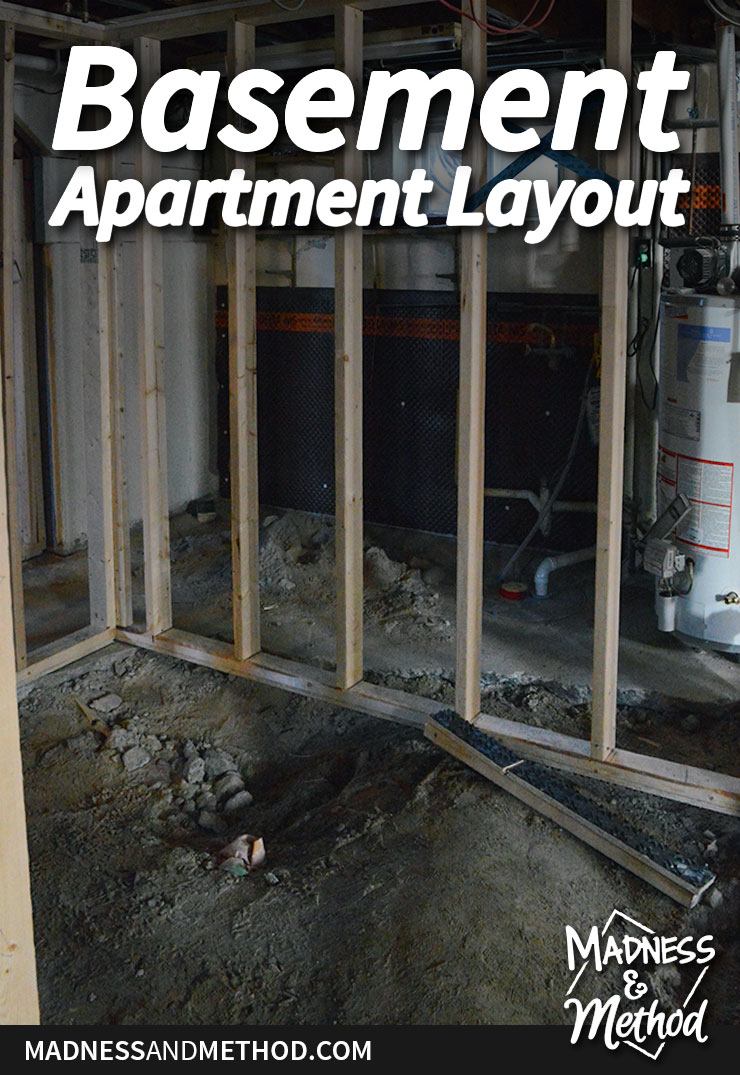 basement apartment layout graphic