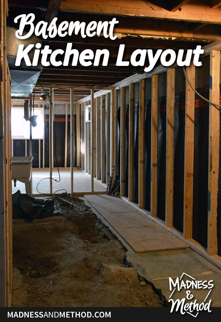 basement kitchen layout plans