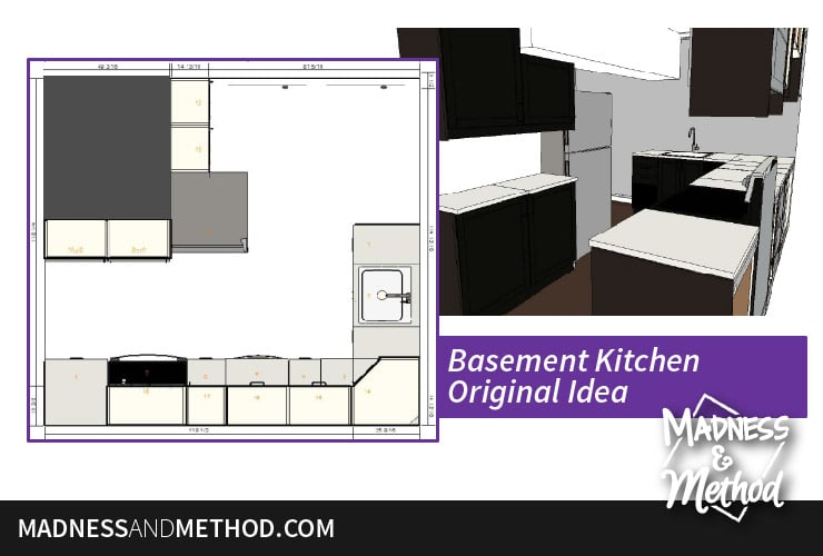original kitchen layout idea