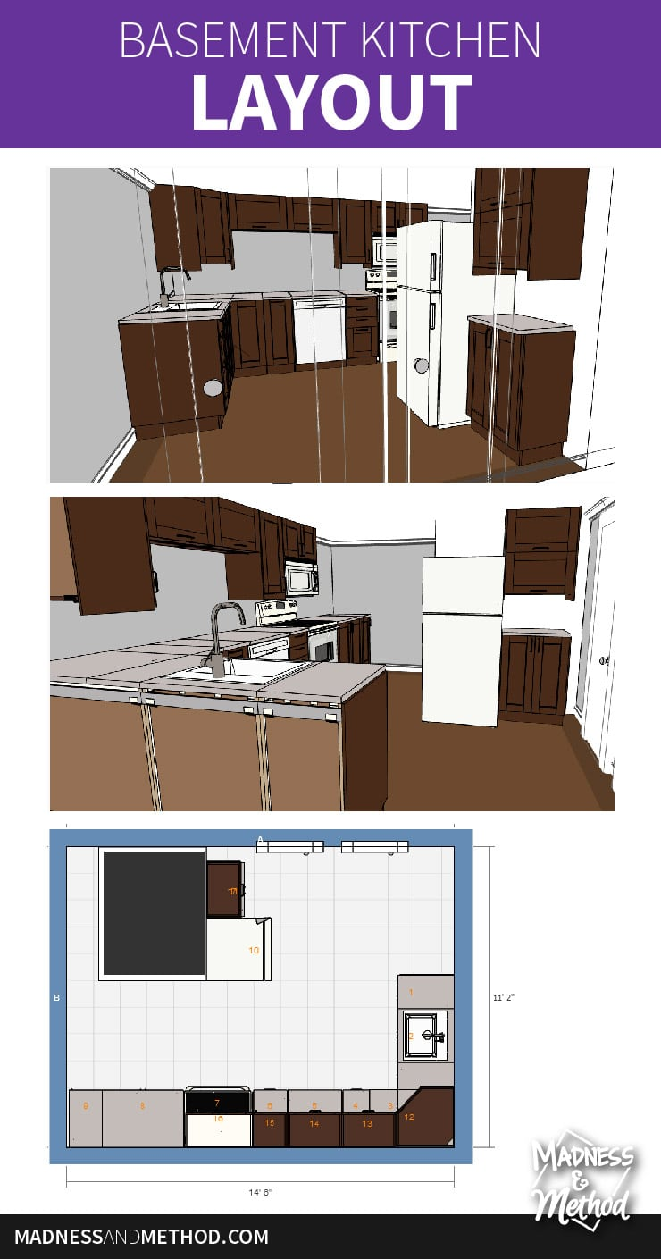 basement kitchen layout
