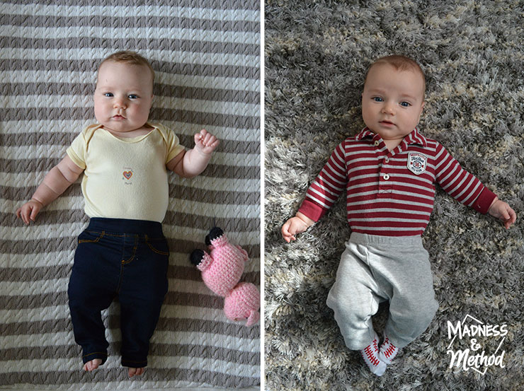 comparing 4 month old babies