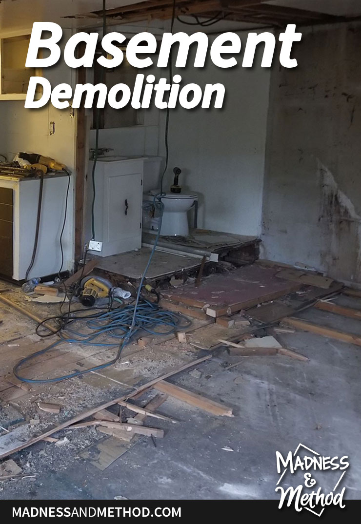 rental basement demolition graphic