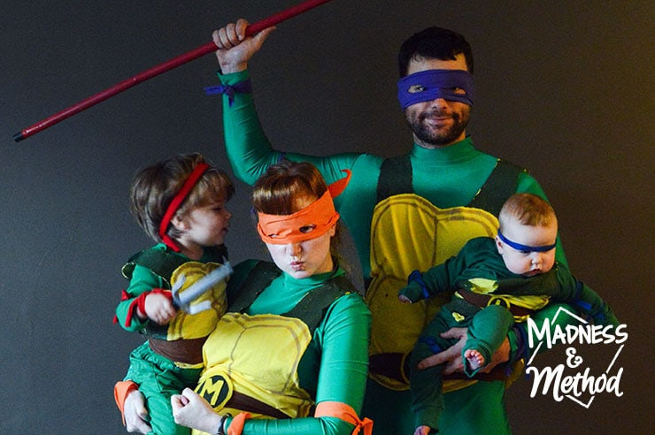 tmnt family halloween costume photo