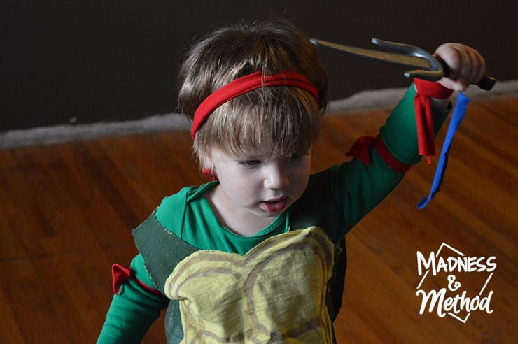 toddler as tmnt raphael