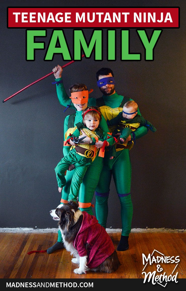 tmnt family costume halloween
