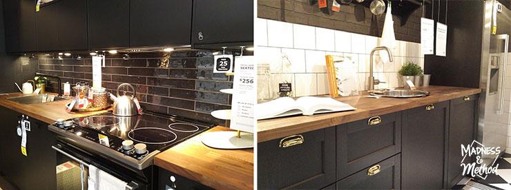 dark ikea kitchens