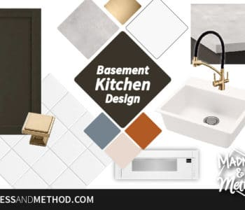 basement kitchen design graphic