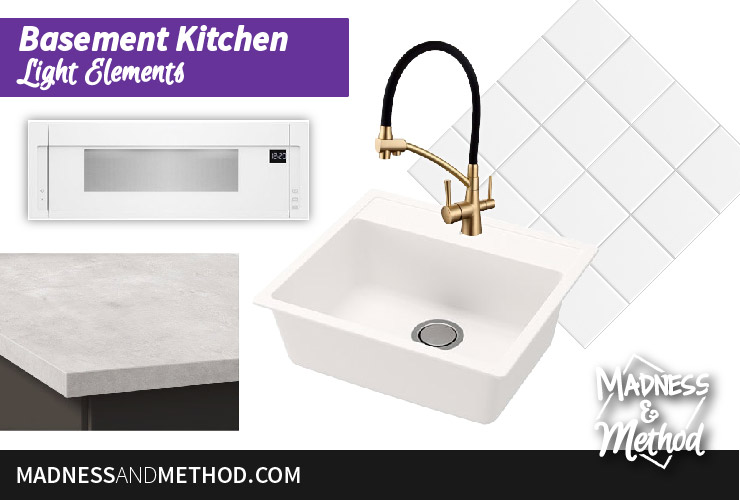 basement kitchen design elements