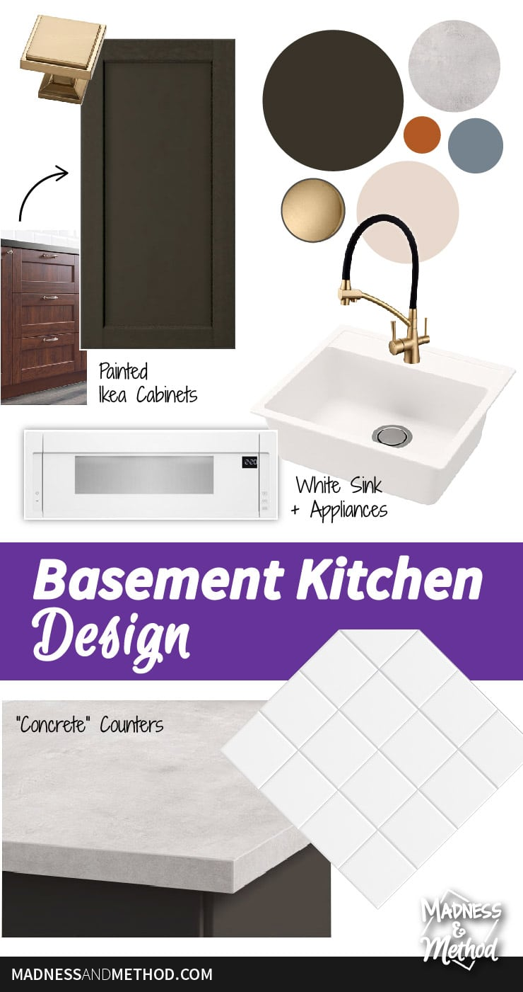 basement kitchen design pinterest graphic
