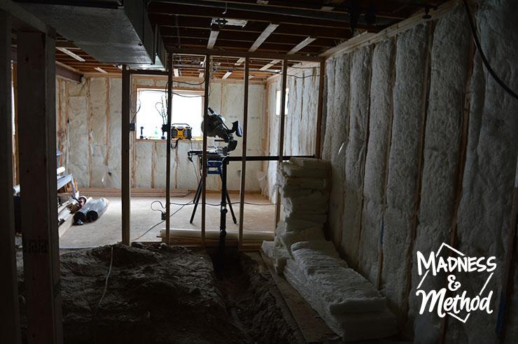 basement kitchen insulation