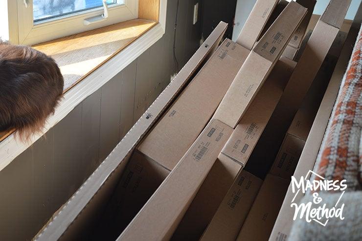 organizing ikea kitchen boxes