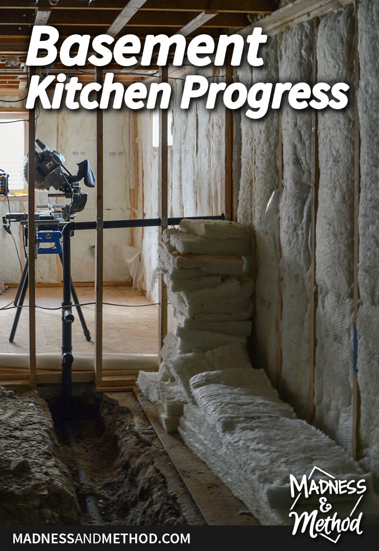 basement kitchen progress graphic