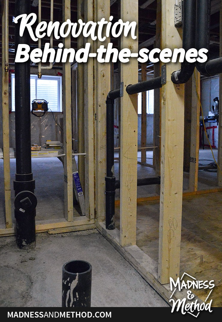 basement kitchen renovation behind the scenes