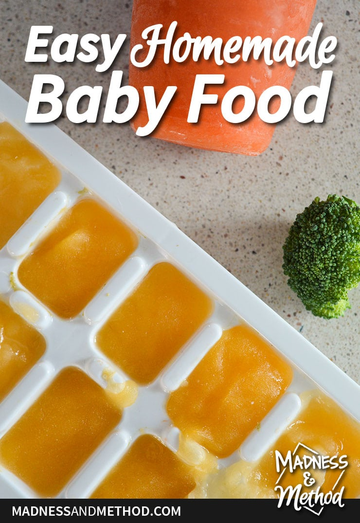 easy homemade baby food graphic