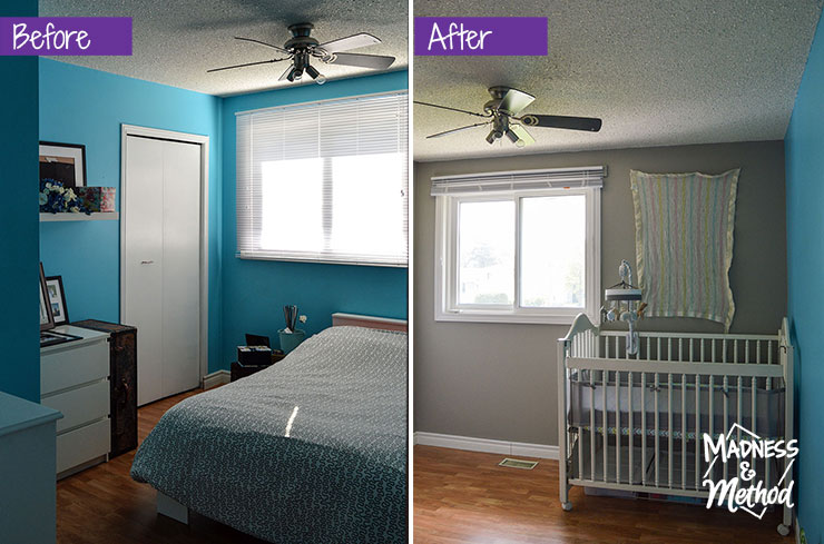 blue room before after