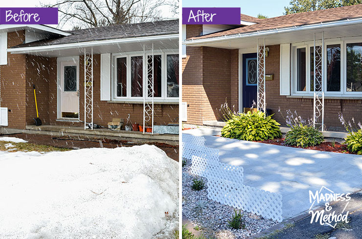 front yard before after