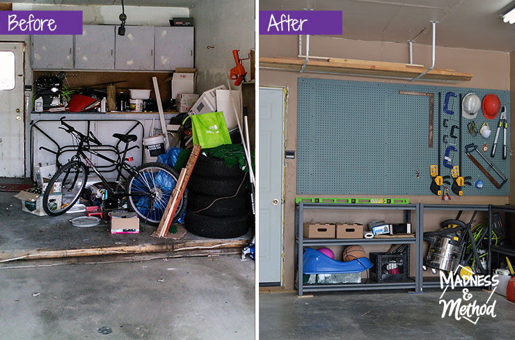 garage before after