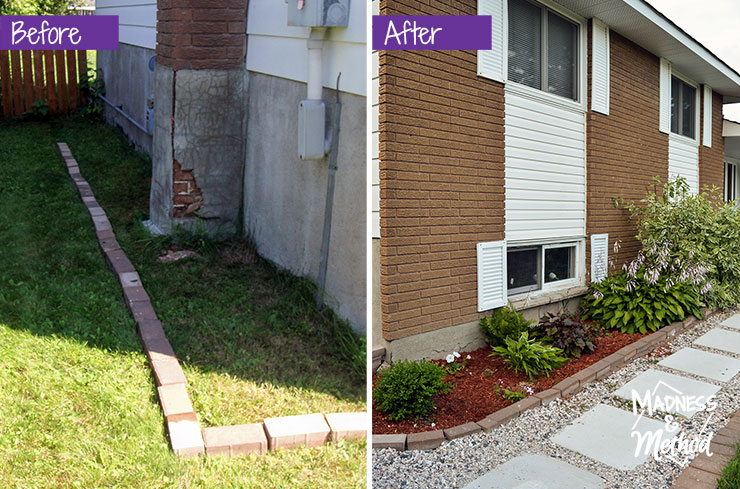 sideyard before after