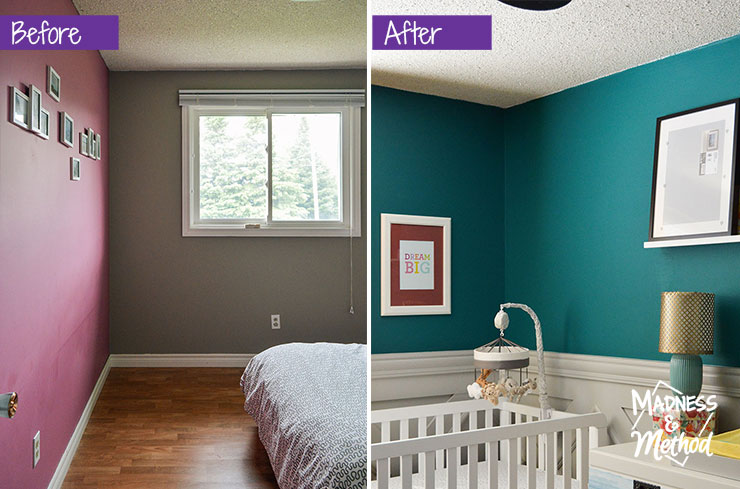 teal room before after