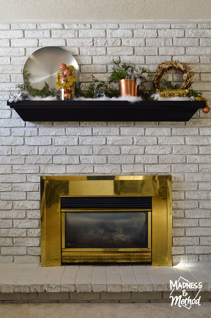 mixed metal mantel