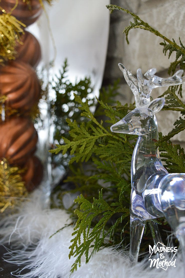 clear reindeer decor