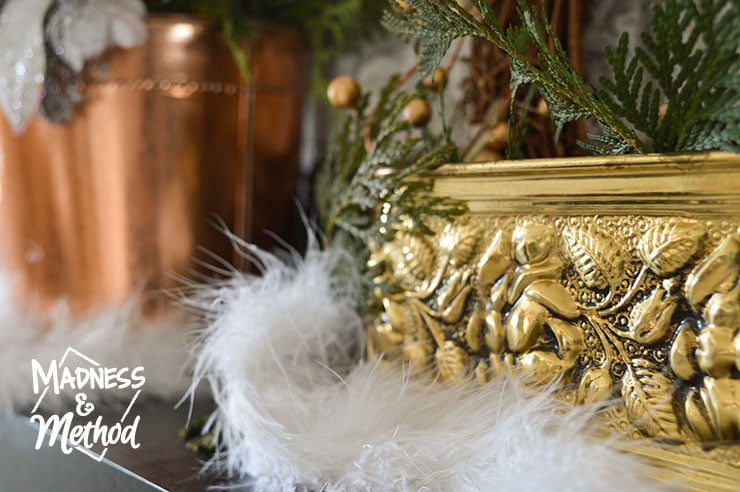brass christmas decor
