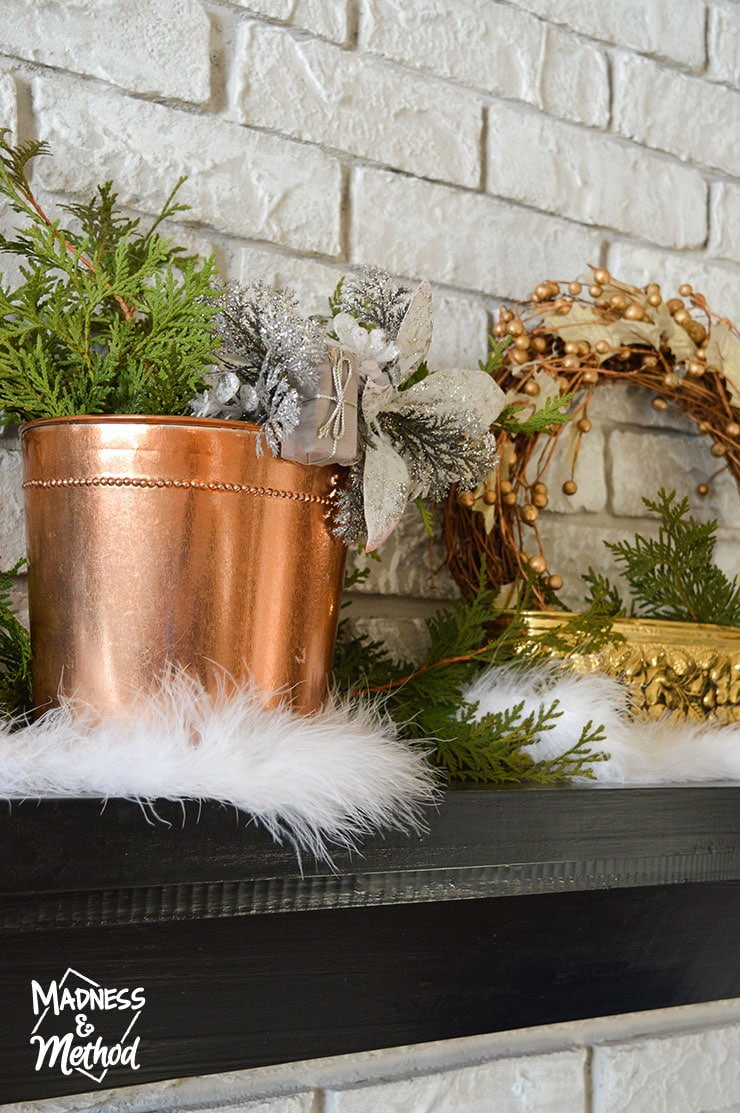 mixed metal christmas decor