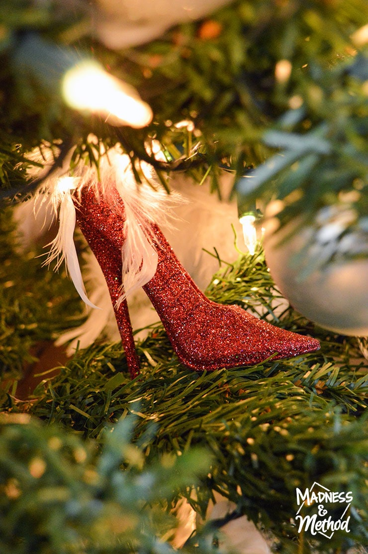red shoe ornament