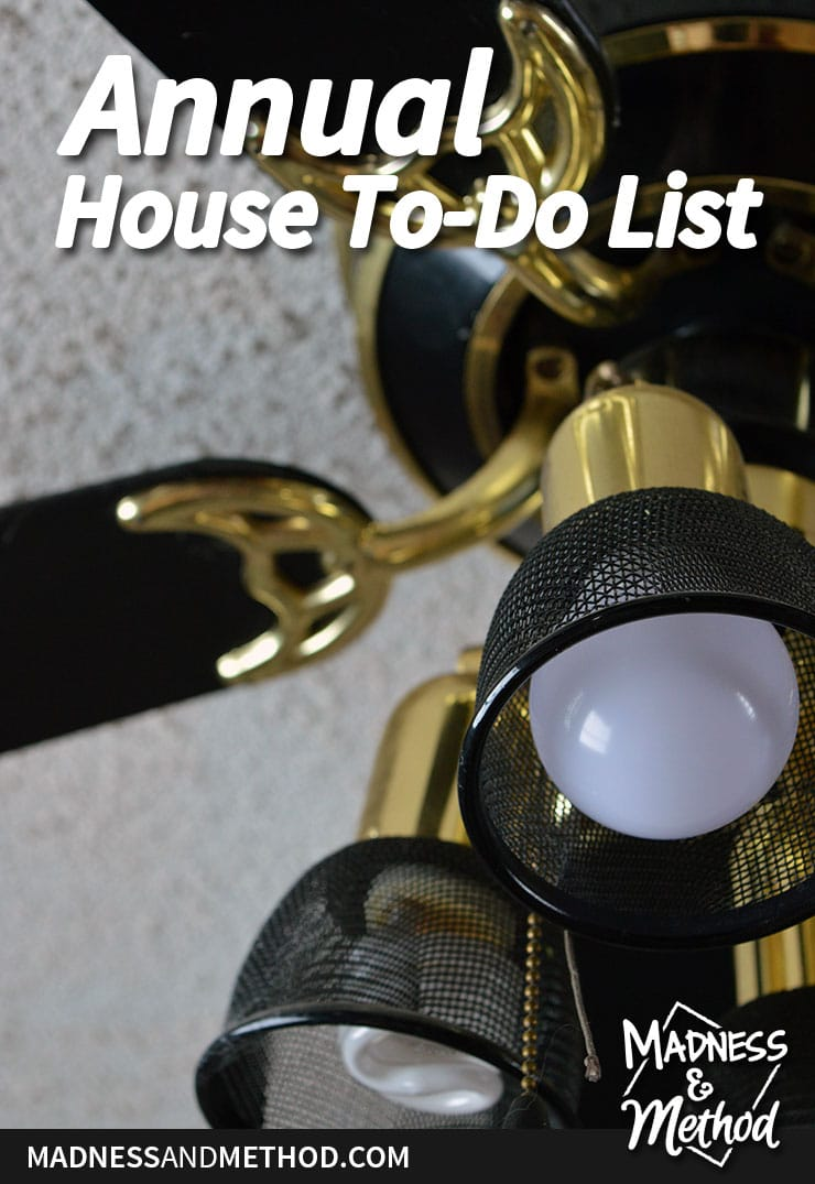 annual house to do list graphic