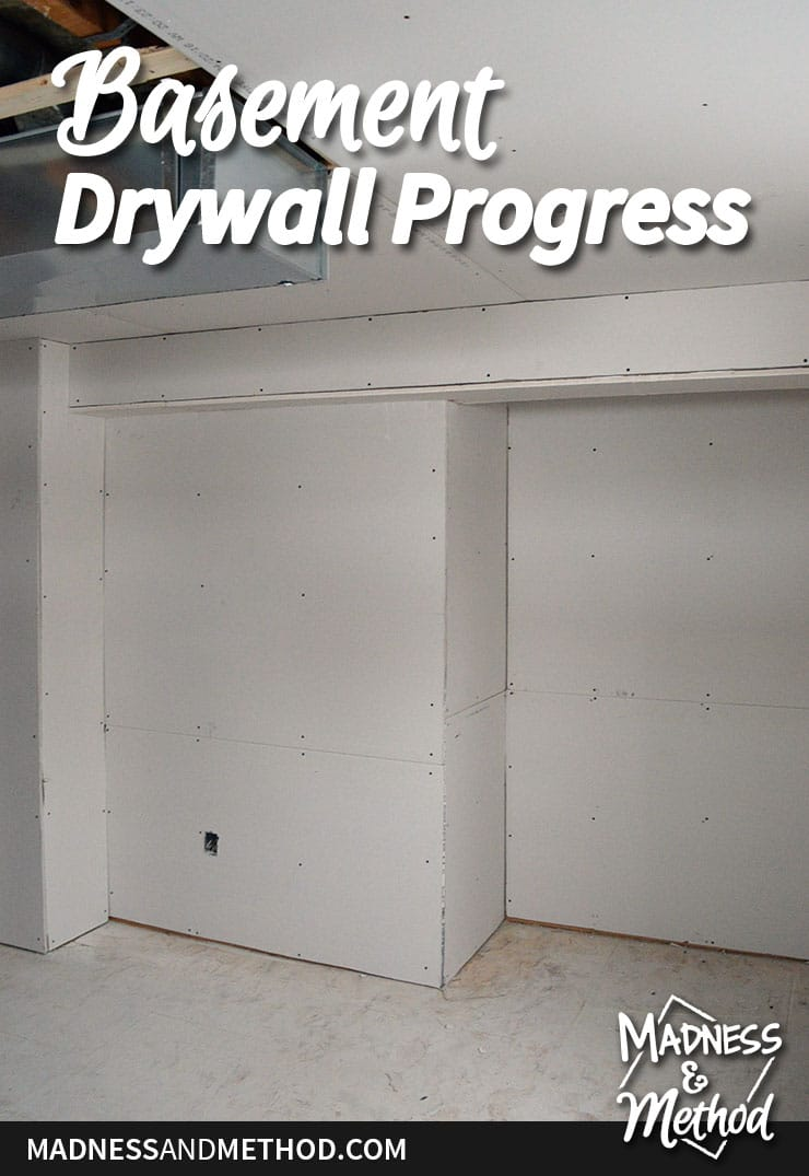 basement drywall progress