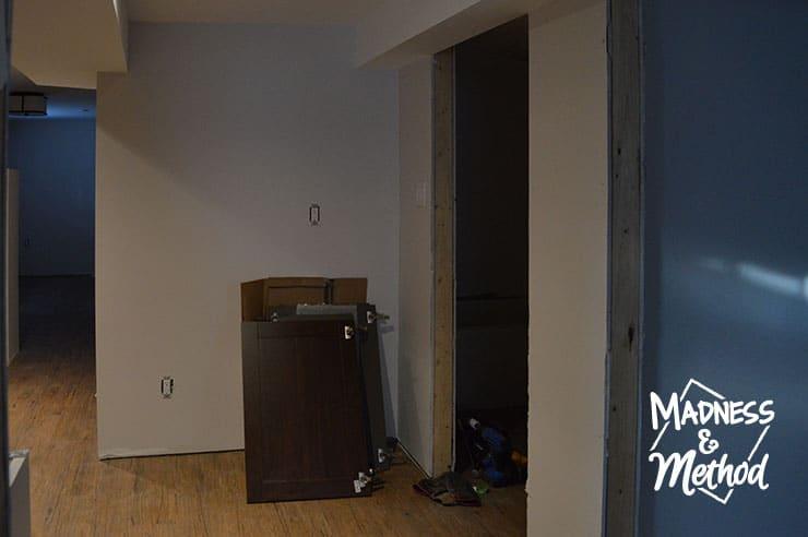 basement kitchen hallway