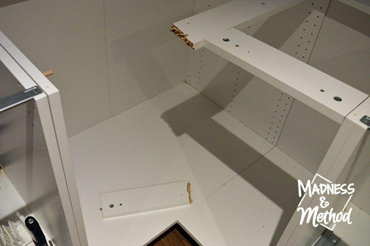 broken ikea corner cabinet