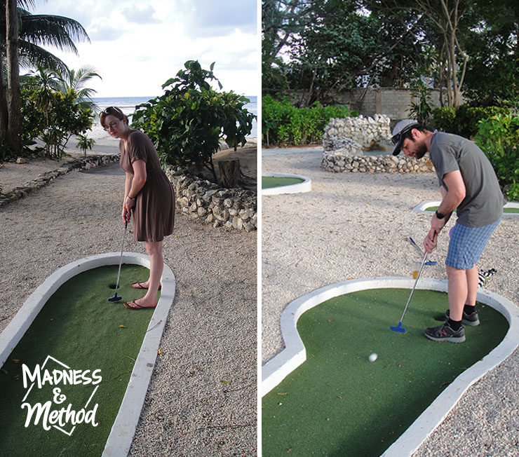 mini golf in jamaica