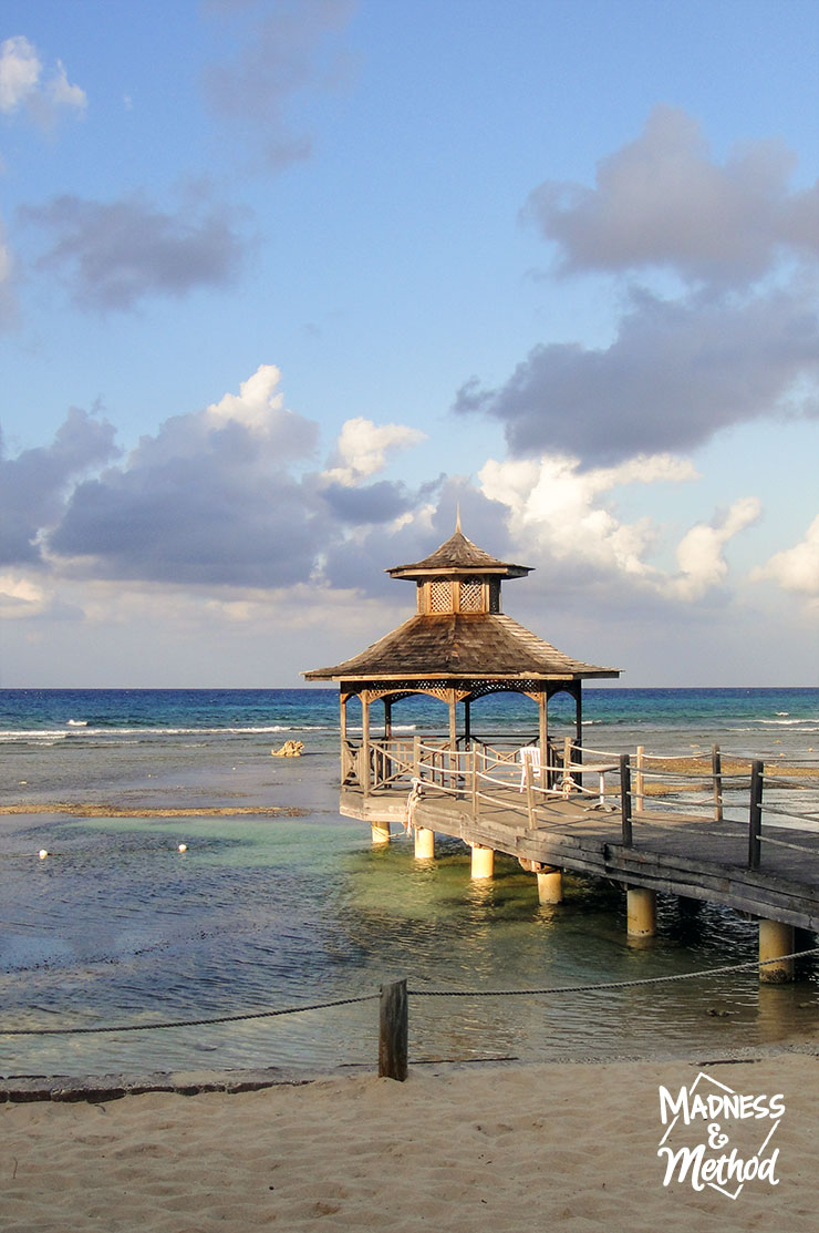 gazebo on water in jamaica