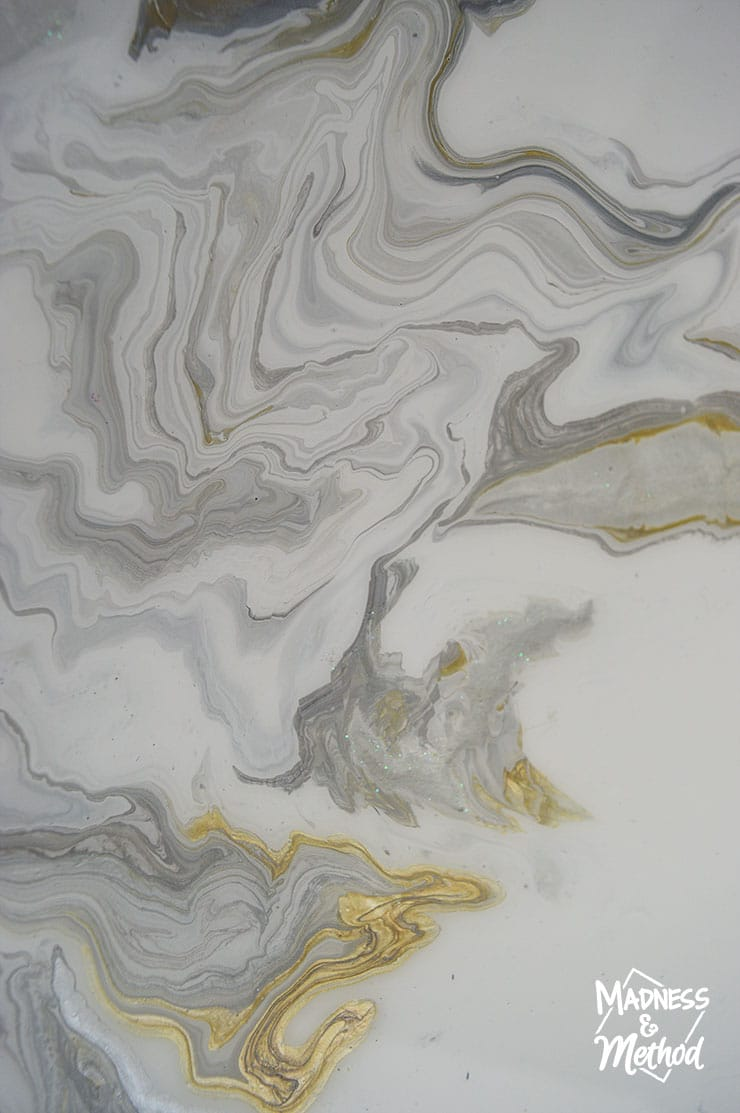 paint pour marble with epoxy