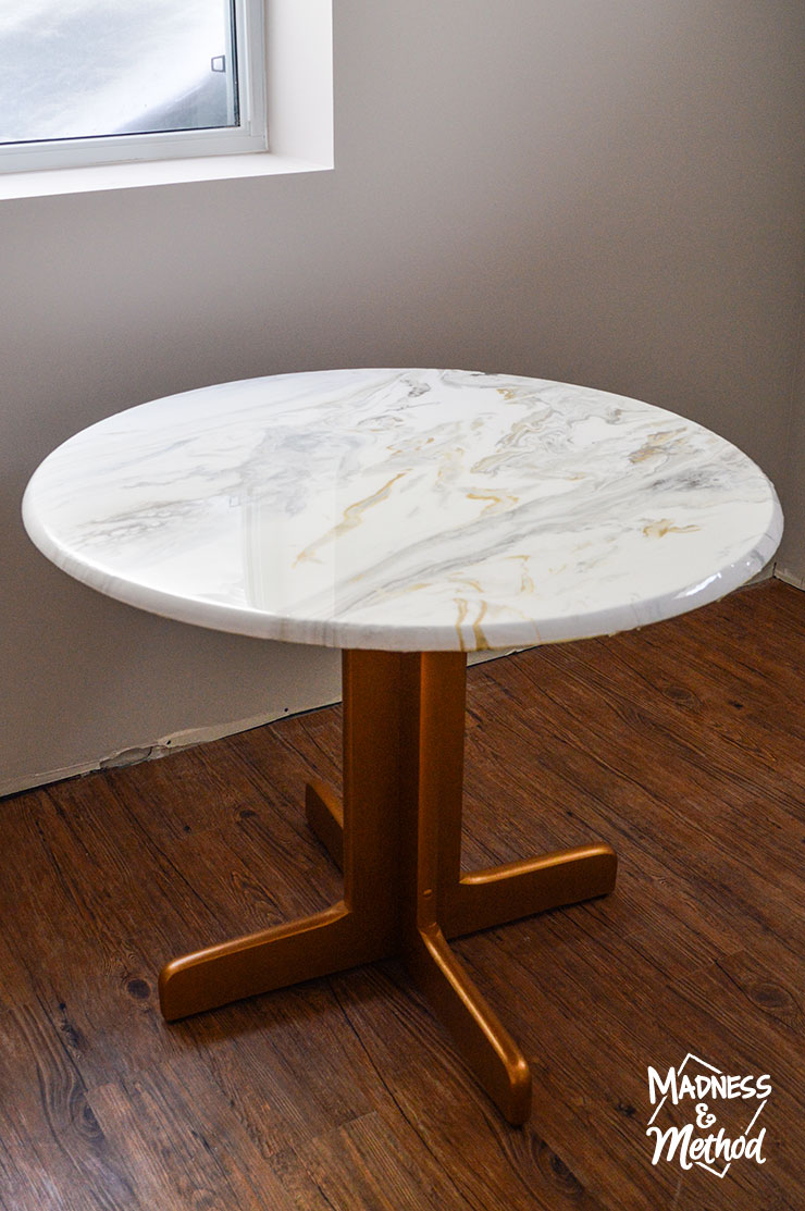marble dining table diy