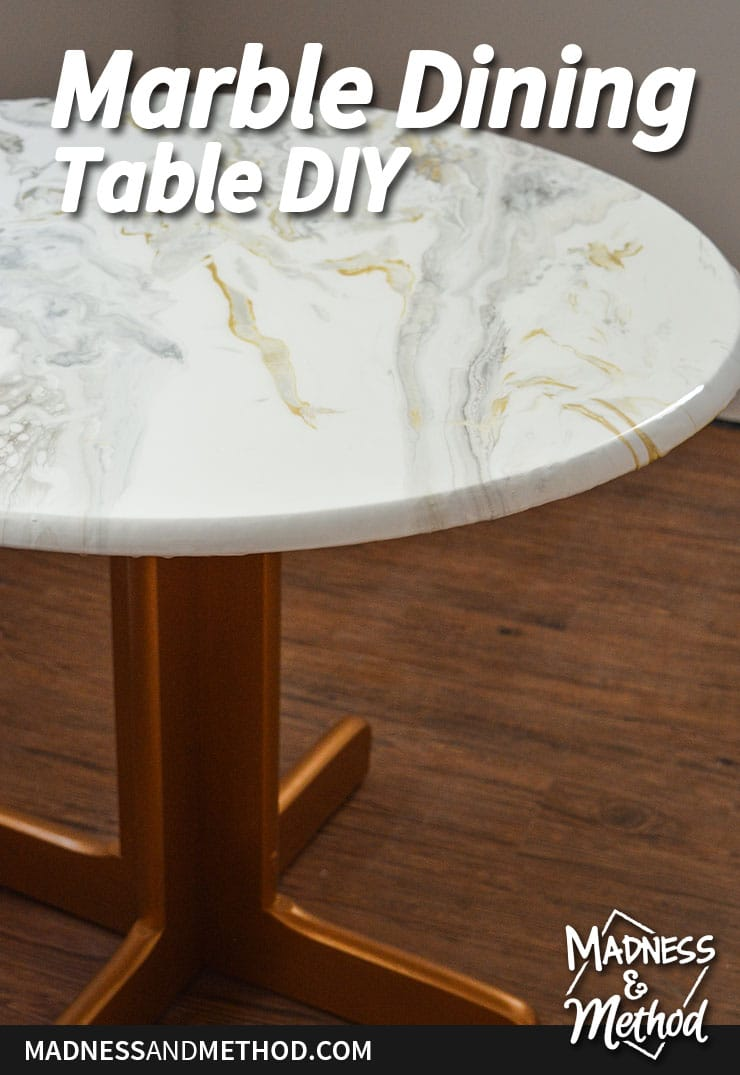 marble dining table diy project