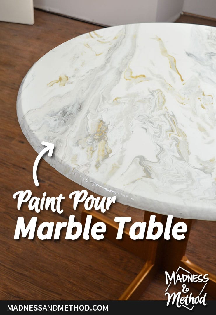 paint pour marble dining table