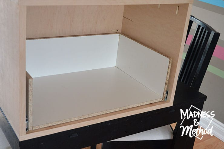 melamine drawer construction
