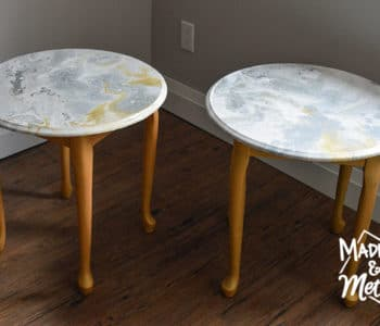 marble paint pour nightstands