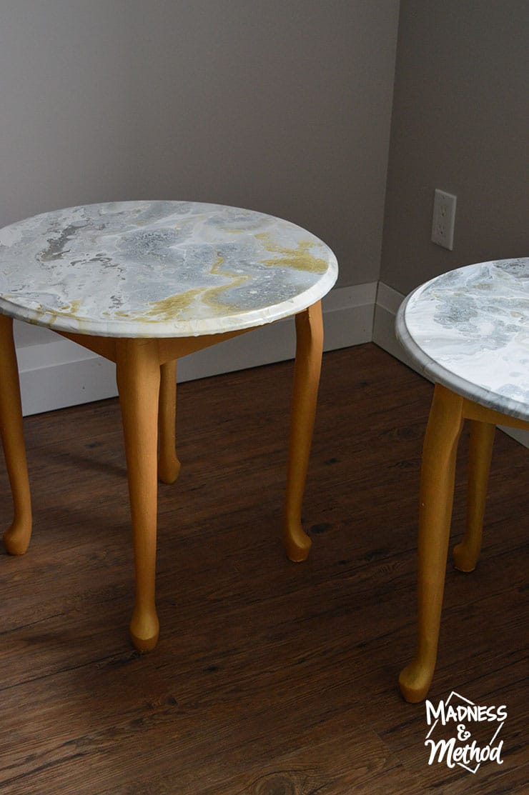 marble pour nightstands reveal