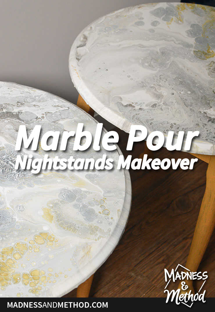 marble paint pour night stands