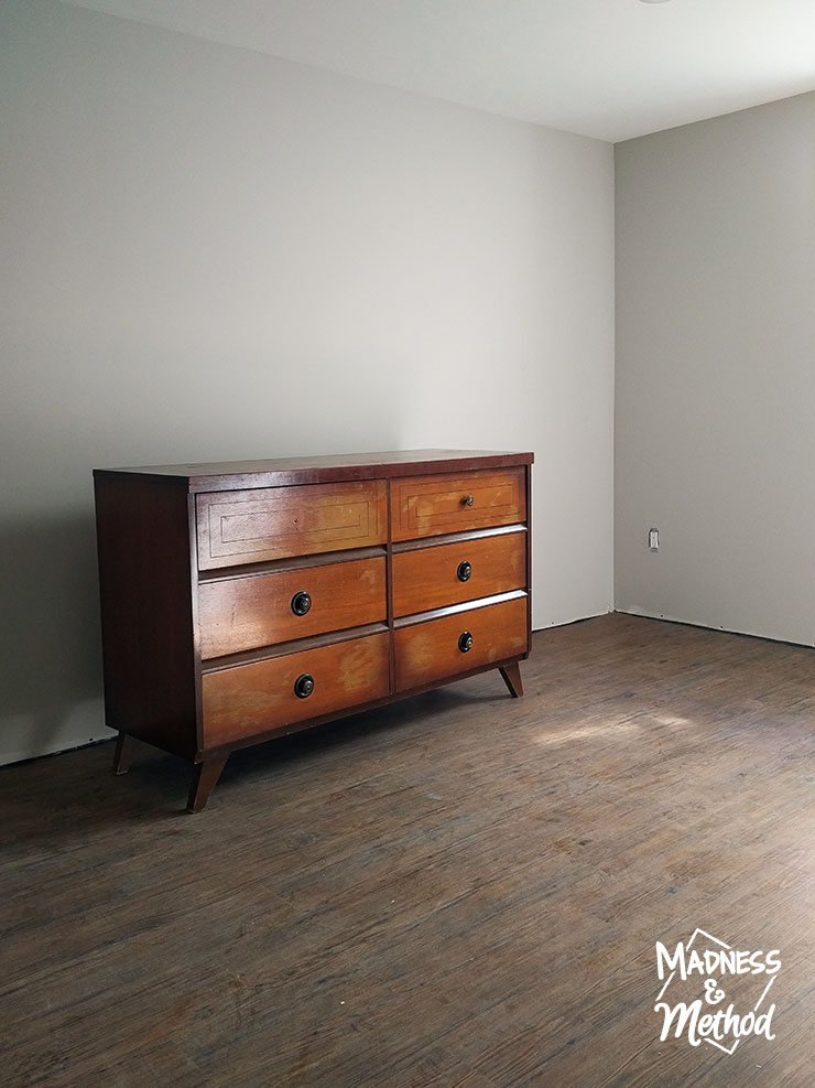 basement bedroom dresser