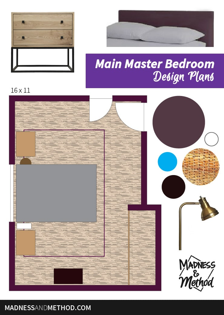 moody master bedroom plans