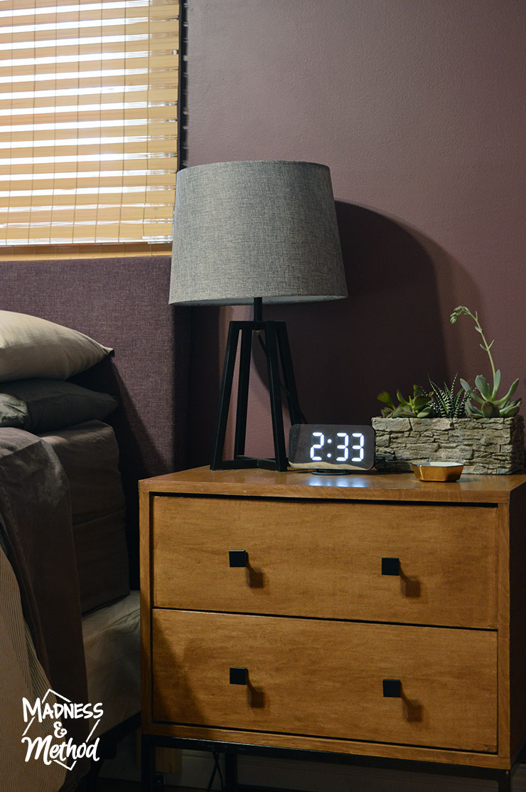 nightstands in bedroom
